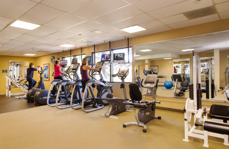 Fitness room at The Ridge Resorts.