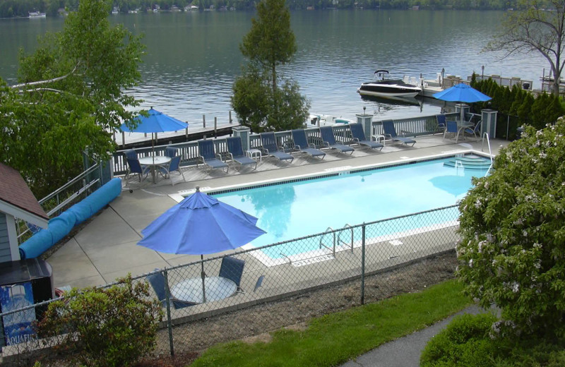 Outdoor pool at The Quarters at Lake George.