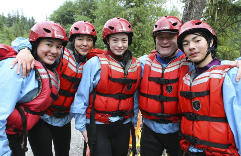 Rafting group at REO Rafting Resort.