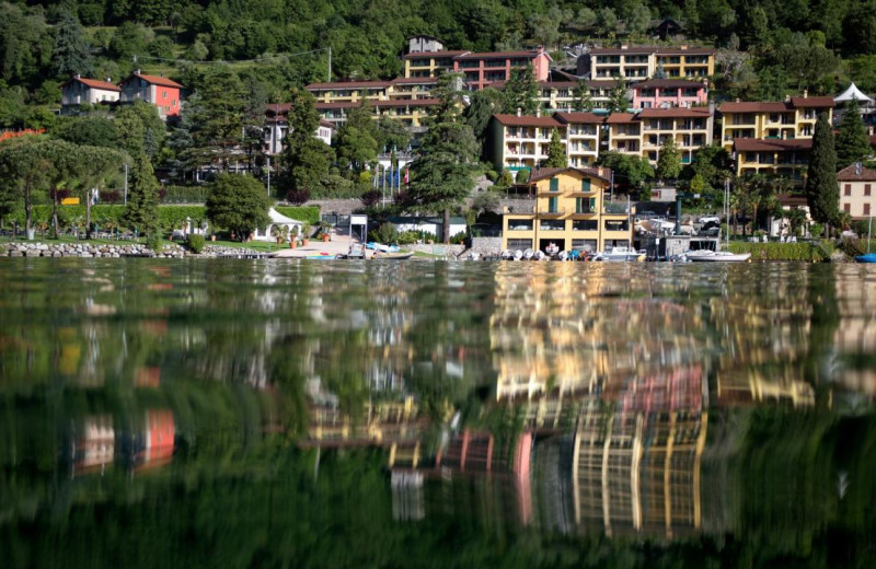 Exterior view of Parco San Marco at lake Lugano in Italy.