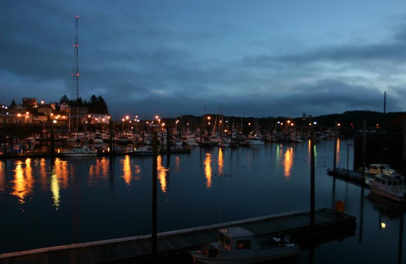 Bay view at Gilmore Hotel.