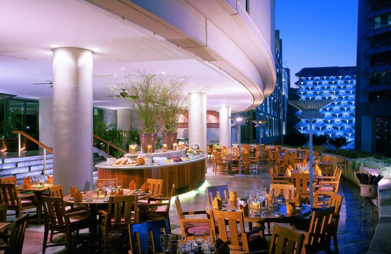 Dining at Al Faisaliah Hotel.