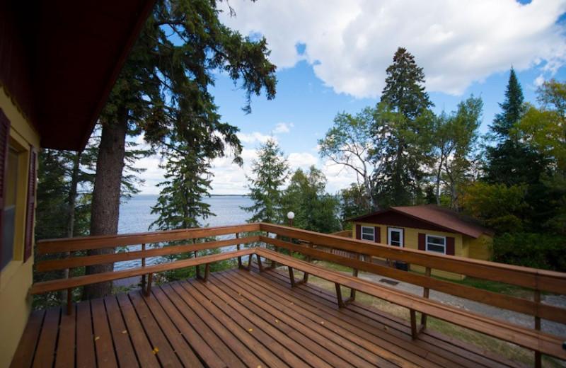 Cabin deck at Snyder's Idlewild Resort.