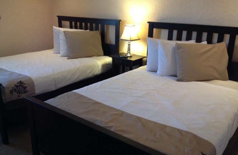 Guest room at Indiana Beach Amusement Resort.