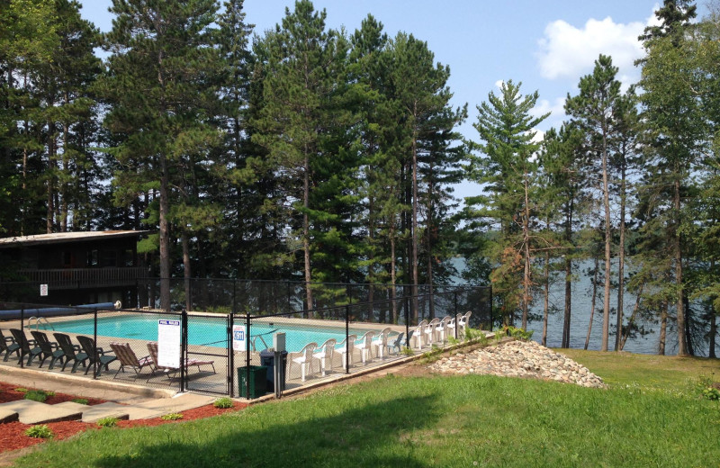 Outdoor pool at Timberlane Resort.