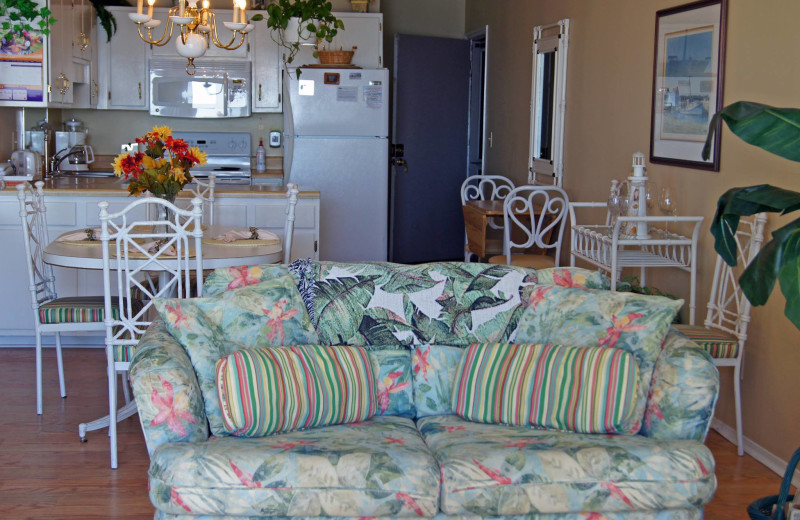 Rental interior at McMillan Oceanfront & Beach Rentals.