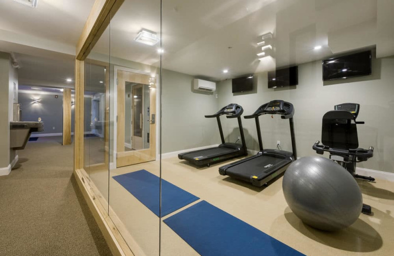 Fitness room at Center Harbor Inn.