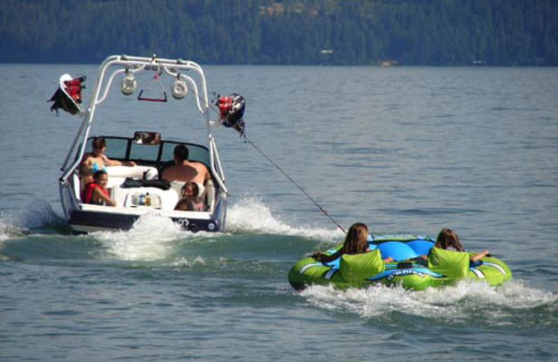 Tubing at The Lodge at Sandpoint.