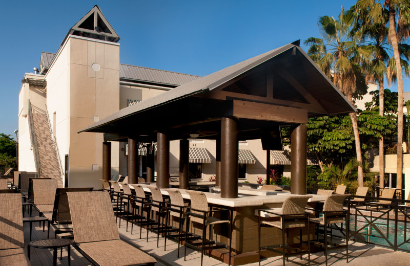 Outdoor patio at La Concha Hotel & Spa.