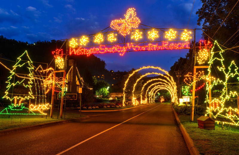 Holiday lights at Westgate Smoky Mountain Resort & Spa.