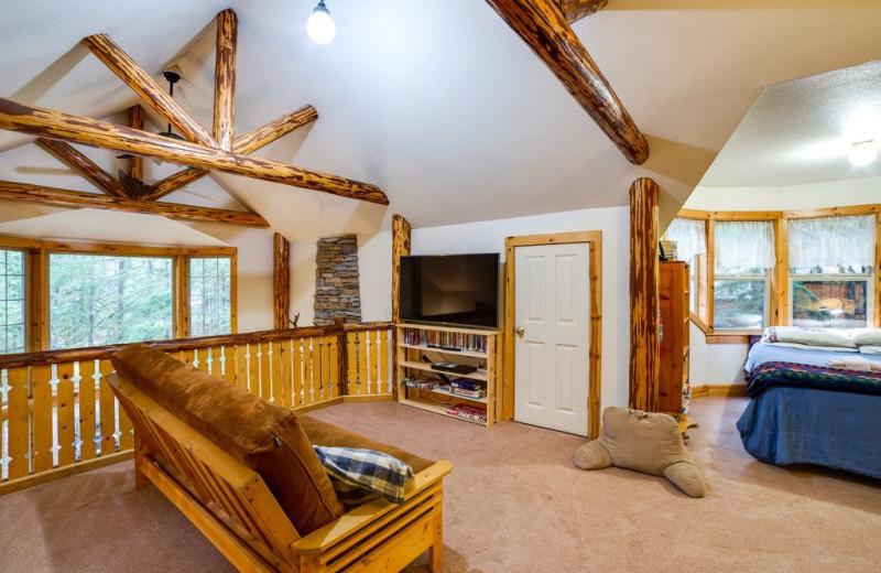 Rental bedroom at Mt. Baker Lodging.