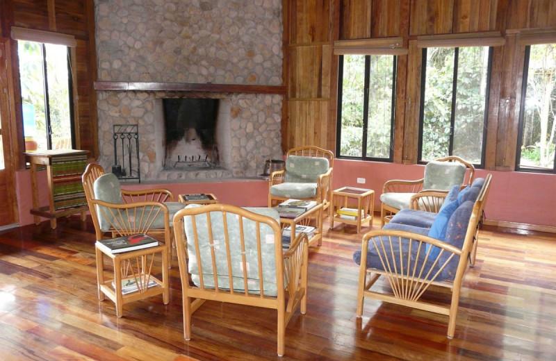 Lounge at Wildsumaco Lodge.