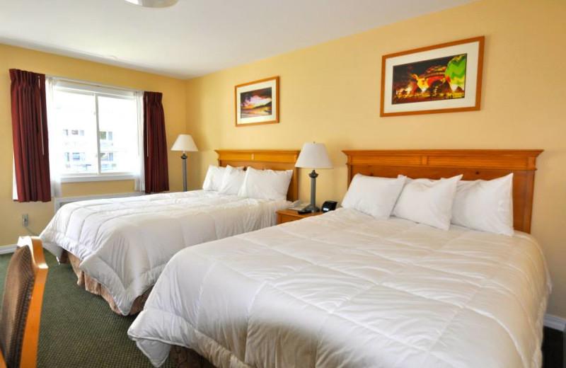 Guest bedroom at Marine Village Resort.
