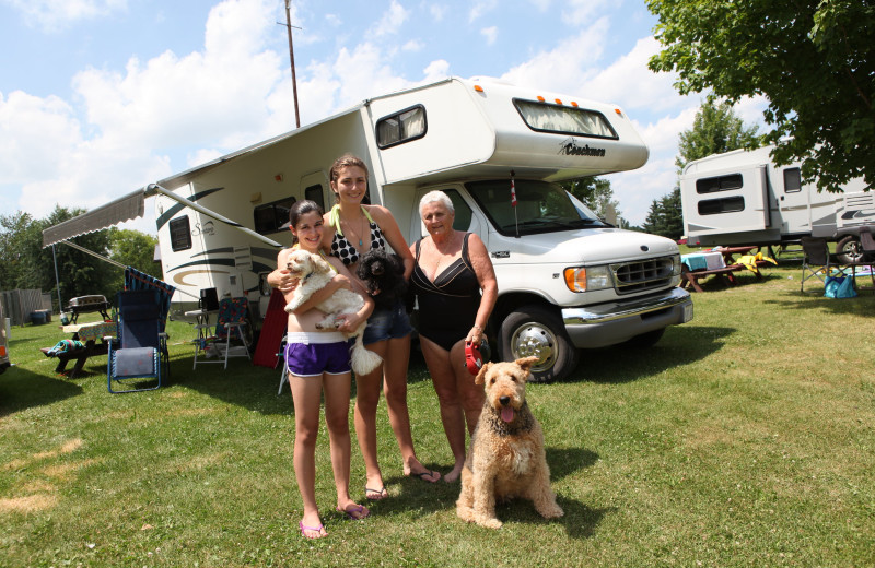 RV camping at Southview Cottages Resort.