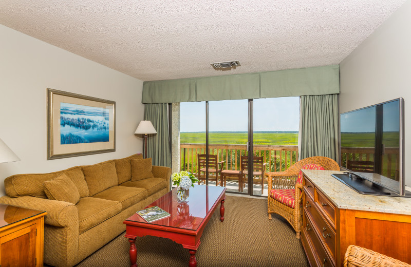 Guest living room at Sea Palms Resort.