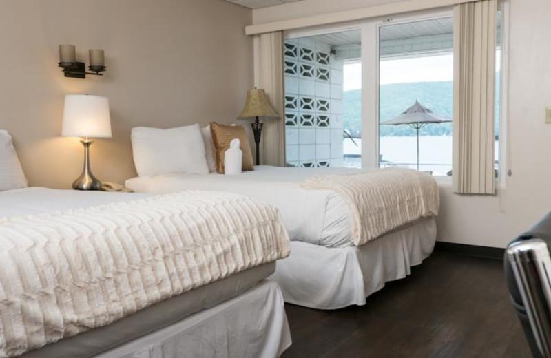 Guest room at The Georgian Lakeside Resort.