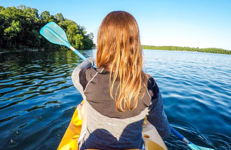 Kayaking near Perham Oasis Travel Plaza.