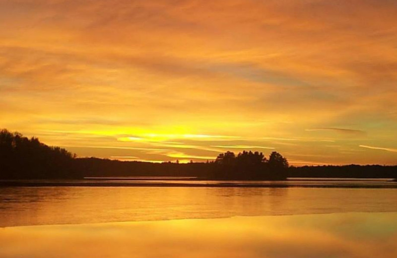 Lake sunset at Recreational Rental Properties, Inc.