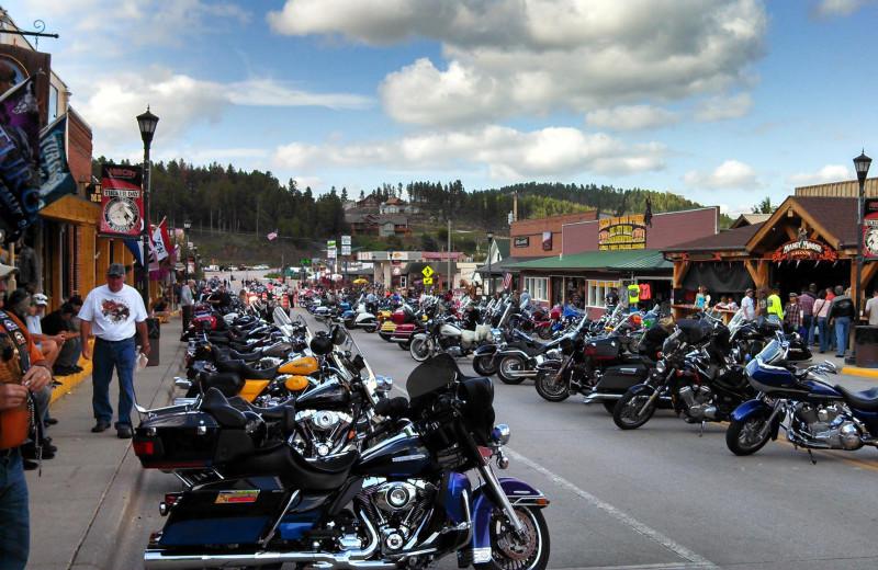 Biker rally at The Lantern Inn.