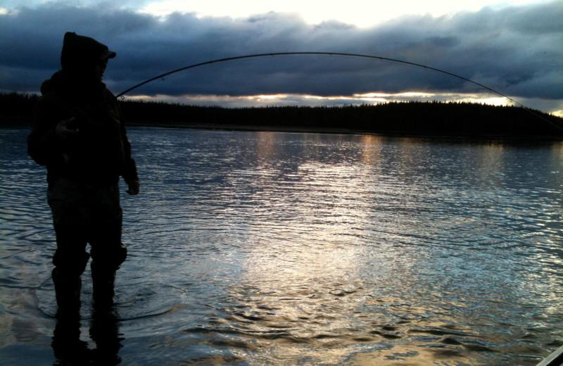 Fishing at Alaska Heavenly Lodge.