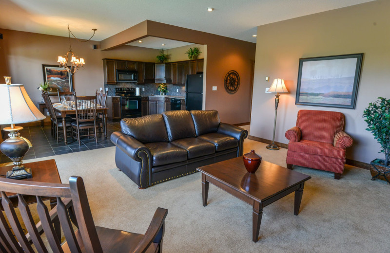 Guest room at Bighorn Meadows Resort.