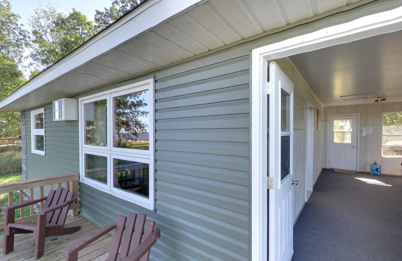 Cabin exterior at Buffalo Point Resort.