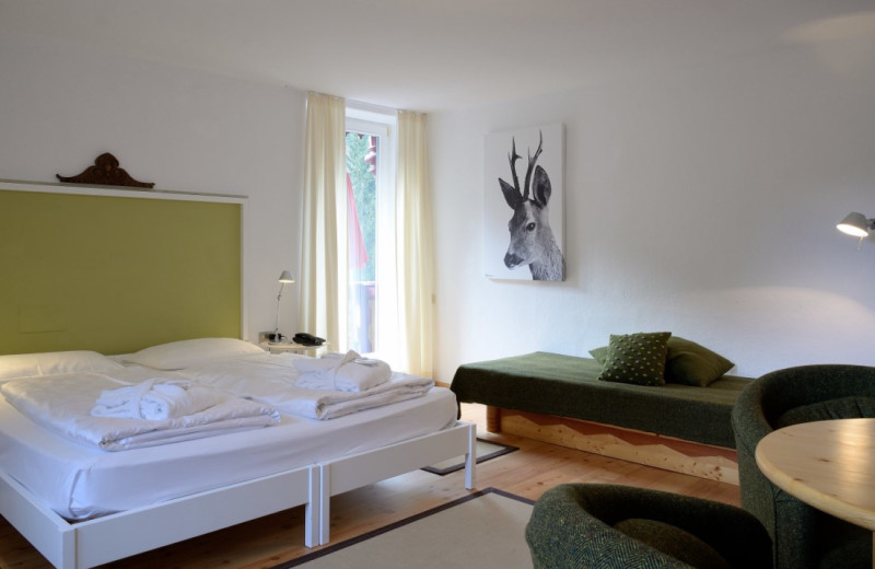 Guest room at Parkhotel Sole Paradiso.