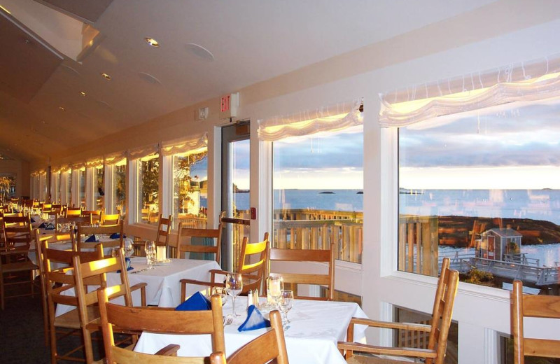 Dining at Sebasco Harbor Resort.