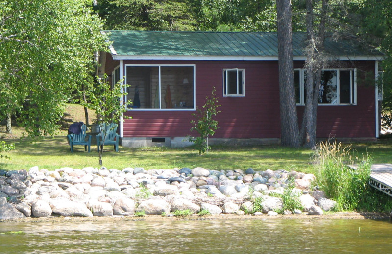 Lakeside cabin at Two Inlets Resort.