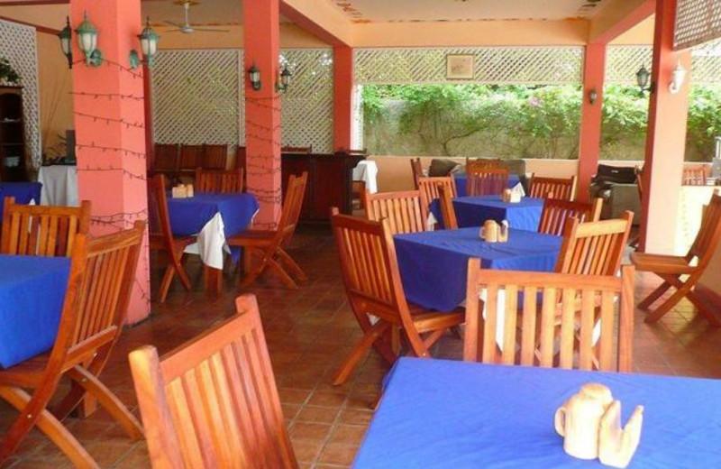 Dining at Caribbean Sunset Resort.