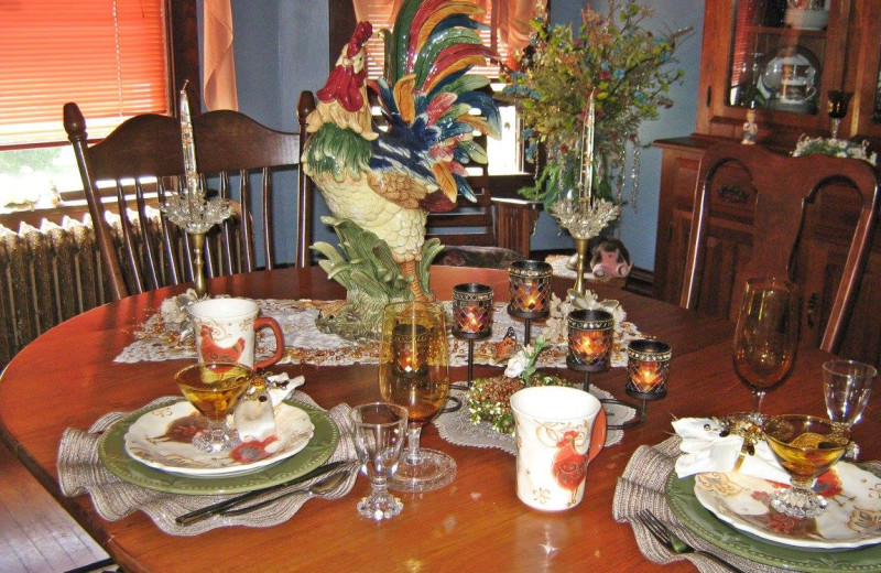 Dining at Country Haven B&B.