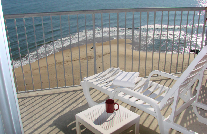 Ocean view balcony at Grand Hotel & Spa.
