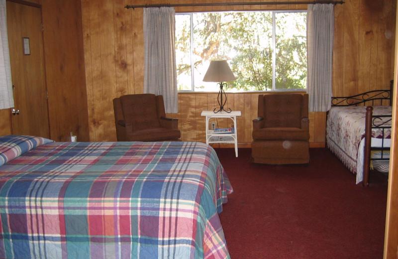 Cabin interior at Rankin Ranch.