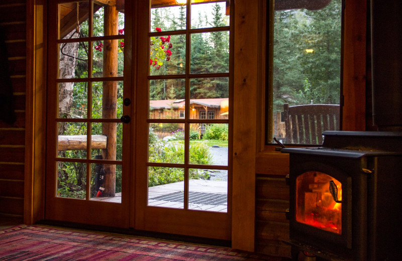 Interior view of Kenai Riverside Lodge.