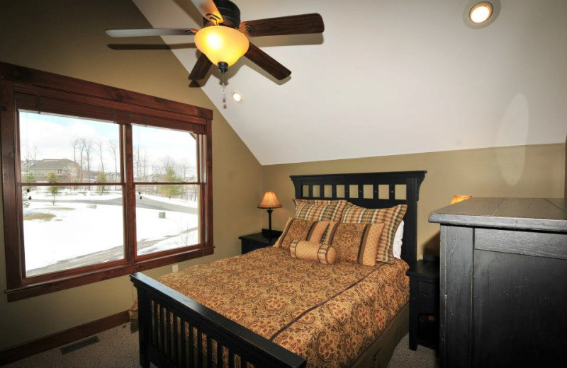 Rental bedroom at Deep Creek Vacations.