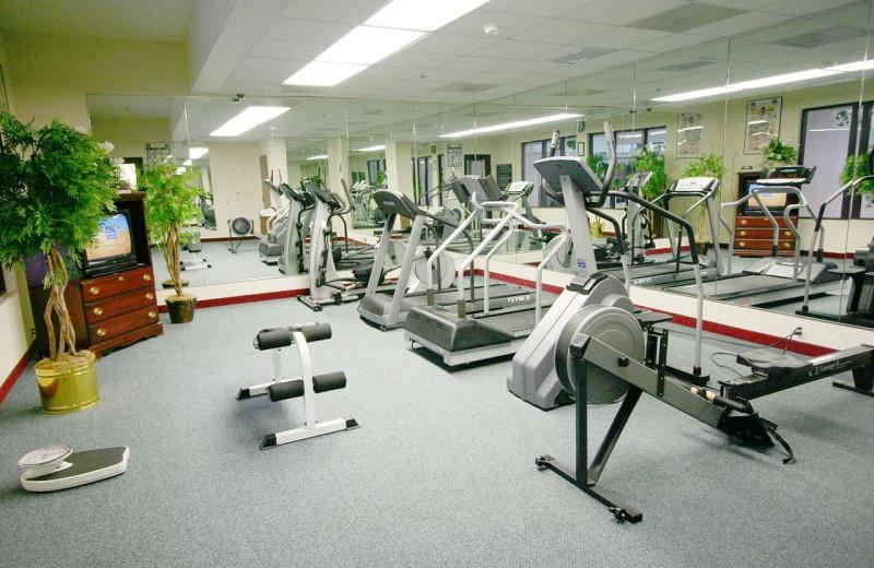 Fitness room at Hampton Inn Jefferson City at Capital Mall.