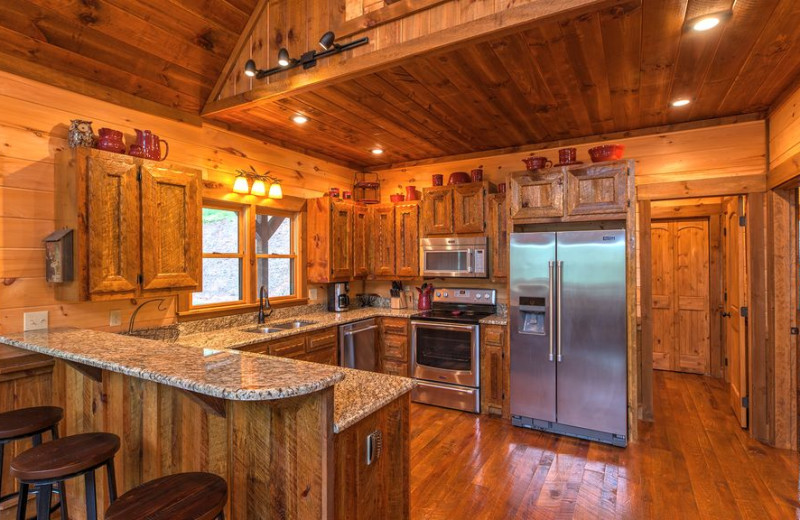 Rental kitchen at Cabin Rentals of Georgia.