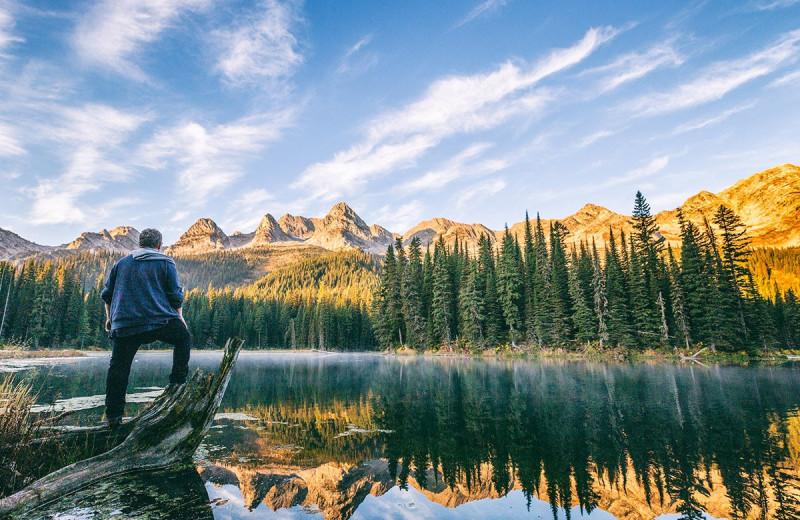 Hiking at Island Lake Lodge.