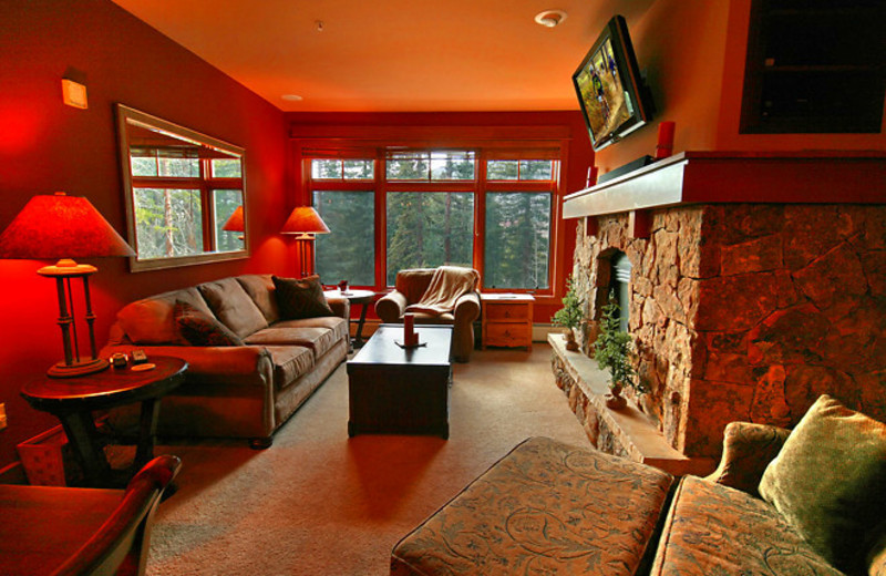 Vacation rental living room at SummitCove.