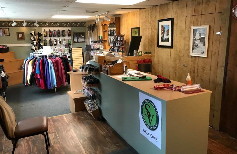 Shop at Spring Valley Golf and Lodge.