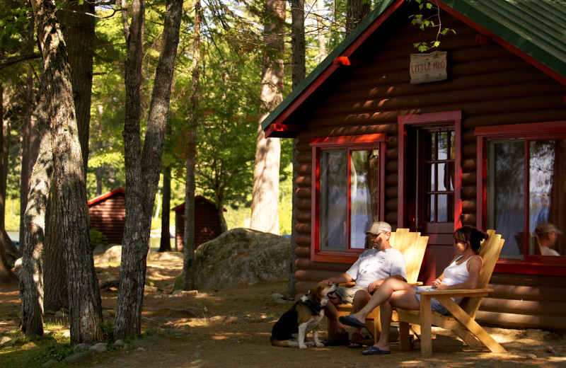 Cabin exterior at New England Outdoor Center.