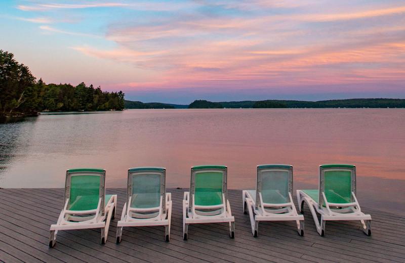 Sunset at Port Cunnington Lodge & Resort.