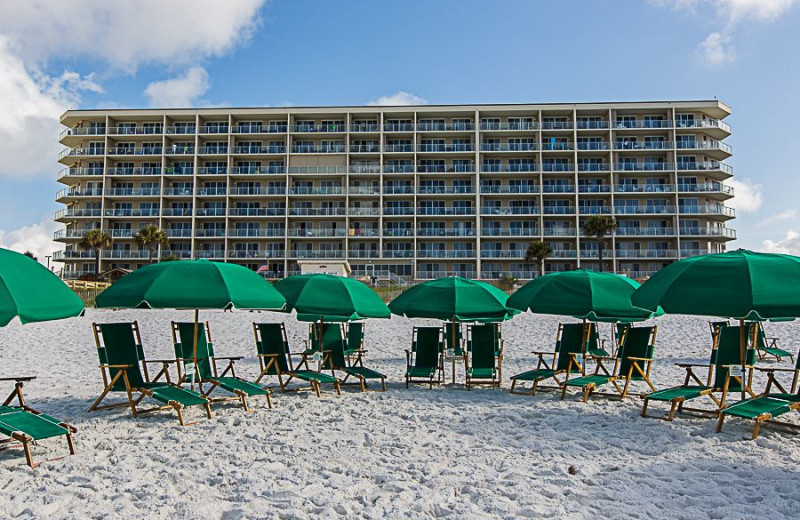 The beach at Sterling Sands Condominiums.