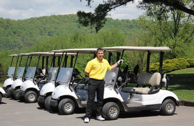 Golf carts at Water Gap Country Club.