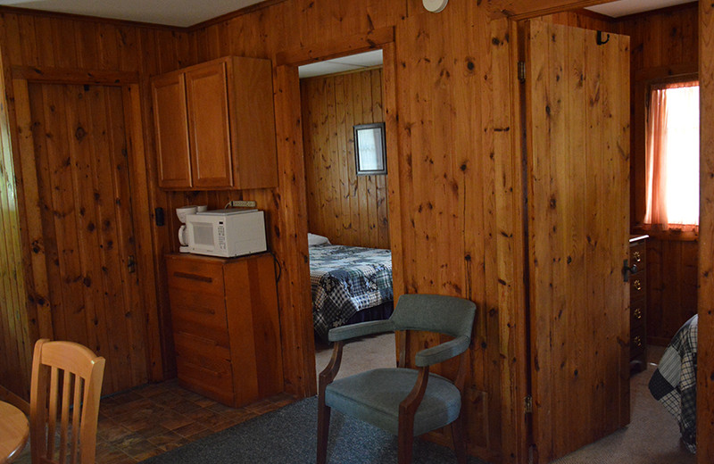 Cabin interior at Upper Cullen Resort.