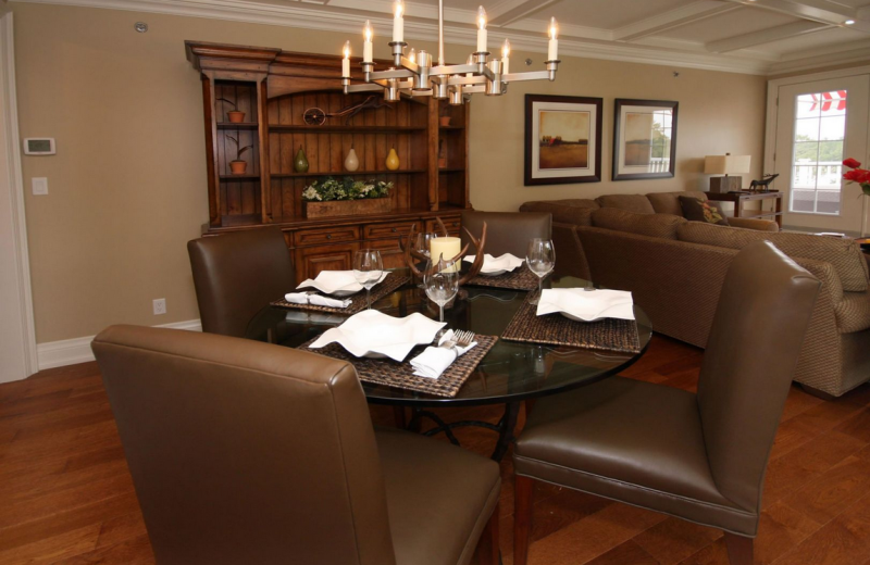 Suite dining room at Windermere House.