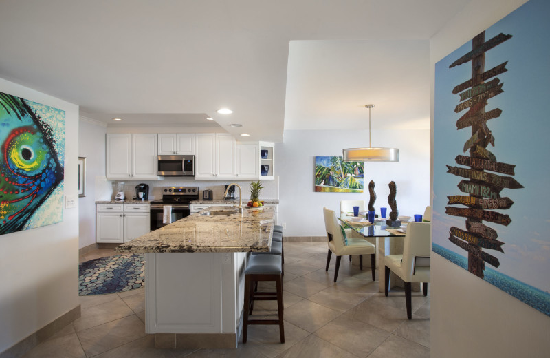 Rental kitchen at 1800 Atlantic, All Florida Keys Property Management.