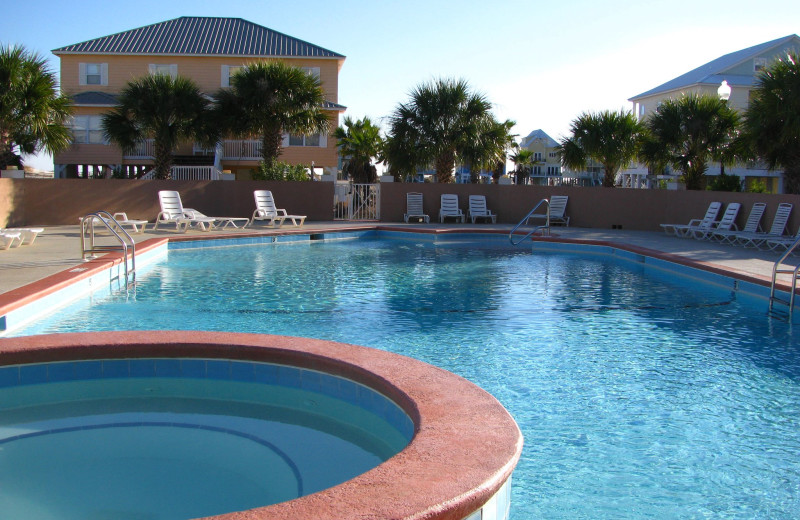 Rental pool at Sunset Properties.