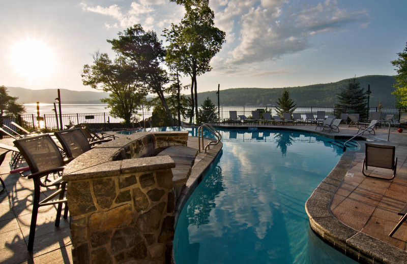 Pool at The Lodges at Cresthaven on Lake George.
