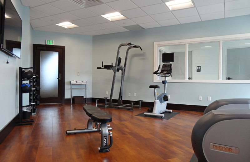 Fitness room at The Inn at Harbor Shores.